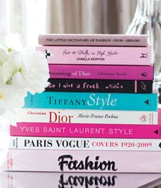 Such a great collection of Fashion-themed books. Not to mention, they'd look great as coffee table books!