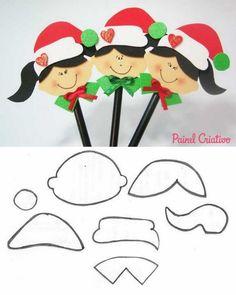 Christmas of Elfs Kids Crafts, Foam Crafts, Crafts To Make, Paper Crafts, Christmas Time, Christmas Crafts, Christmas Decorations, Christmas Ornaments, Christmas Templates