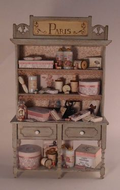 Miniature Shop: Filled Hutch by Pedrete