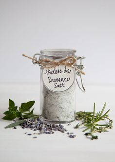 This Herbes de Provence Salt uses a combination of fresh and dried herbs that are typically found in southern France