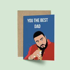 DJ Khaled You the Best Dad Birthday Card (Funny Card DJ Khaled Card Funny Fathers Day Card Pop Culture Celebrity Card Birthday Card)