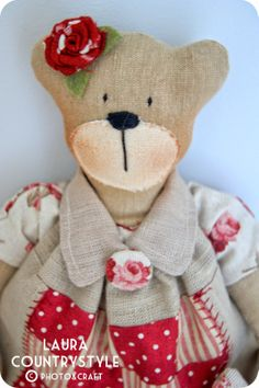 Country style: Romantic Teddy Bear