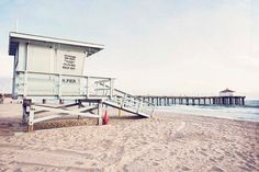 Manhattan Beach California / Lifeguard Tower Print / by BreeMadden
