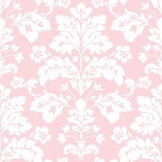 Camila Pink Modern Damask Wallpaper Wallpaper