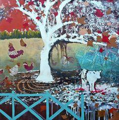 Hilary Williams ~ A Nice Tree  ~  mixed media