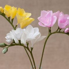 My favorite flowers #paperflowers #paperartistry #paperbouqet #crepepaperflower #crepepaper #paperart #cartotecnicarossii #gift #flower #frezia