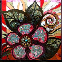 Flower Power by glass mosaic artists Carl and Sandra Bryant Showcase Mosaics
