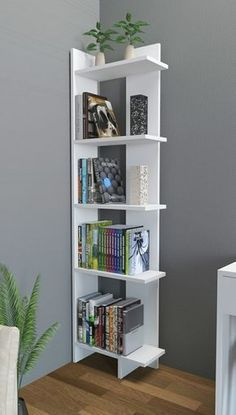 best ideas for corner wall closet ideas Corner Bookshelves, Bookshelf Design, Bookshelf Storage, Bookcase Decorating, Bookshelf Styling, Shelving Units, Decorating Ideas, Shelves For Books, Bookshelves For Small Spaces