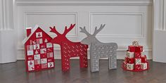 Countdown to Christmas with these delightful wooden advent calendars, featuring Reindeer design in two colours, a cute house and parcel stack.  All our calendars  come with individual drawers that pull out and can be filled with Christmas goodies. Children will love waking up each morning and finding little treasures in each box. Available from September.  Money raised from the sale of these items help support hospice care.
