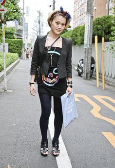 Skull Shirt, Tokyo | Street Fashion | Street Peeper | Global Street Fashion and Street Style