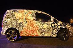 """VW CADDY, Custom wrap, 19"""" TTRS ALLOYS, automotive art. £5500"""