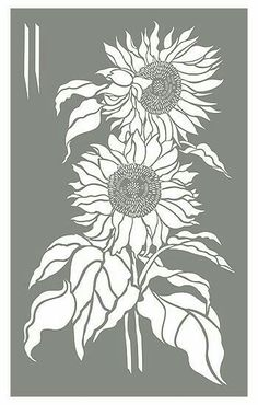 Large Sunflowers Stencil Lippi Lippi Rahye I thought of you. Would this make a fun old time garden sign? Sunflower Stencil, Sunflower Colors, Sunflower Drawing, Sunflower Design, Stencil Patterns, Stencil Art, Stencil Designs, Flower Stencils, Printmaking
