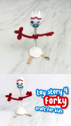 DIY Forky Toy Craft For Kids Disney Craft For Kids Learn how to make this simple and fun Forky toy from Disney Pixars Toy Story 4 This is an easy activity for kids of al. Disney Diy, Disney Pixar, Disney Crafts For Kids, Easy Crafts For Kids, Toddler Crafts, Preschool Crafts, Diy For Kids, Fun Crafts, Arts And Crafts