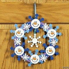 25 creative ideas _________________________________________________ Try to do it O Bastelarbeit Winter, Winter Christmas, Christmas Time, Christmas Paper, Christmas Wreaths, Christmas Ornaments, Snowman Crafts, Holiday Crafts, Snowman Wreath