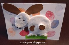 easter bunny from cosmetics pads