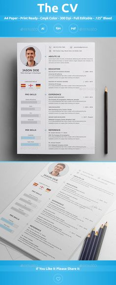 Resume \/ CV Resume cv, Cv template and Professional resume - resume paper size