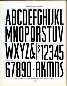 Morris Fuller Benton designed Raleigh Gothic Condensedfor ATF in 1932. It is similar to his Agency Gothic of the same year.