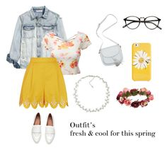 """""""Spring"""" by katherine-macedo on Polyvore featuring Belleza, LE3NO, Temperley London, Kate Spade, Forever 21 y Carolee"""