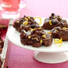 Chocolate Drops With Pistachios and Cherries - Fitnessmagazine.com