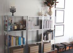 ikea hyllis shelves - living room for books too?