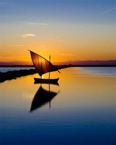 Sunset, Albufera, Valencia, Spain