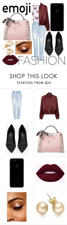 """""""Emoji Fashion"""" by kendall-ahs ❤ liked on Polyvore featuring Topshop, Mulberry, Yves Saint Laurent and Fendi"""