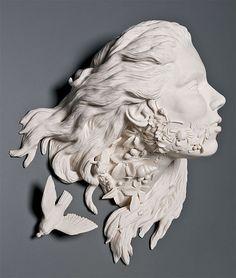 Invasive flora porcelain sculpture by Kate MacDowell Kate Macdowell, 3d Drawings, Design Graphique, Sculpture Clay, Ceramic Sculptures, Plaster Sculpture, Art Design, Pablo Picasso, Art History