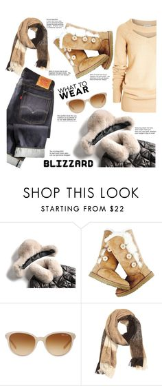 """Blizzard Street Style"" by mrs-rc ❤ liked on Polyvore featuring UGG Australia, Tiffany & Co. and H&M"
