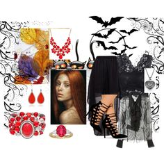`All Hallows' Eve by peeweevaaz on Polyvore featuring Maison Margiela, Sonoma life + style, Style & Co. and Eddie Borgo