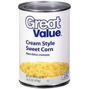 Great Value: Cream Style Sweet Corn, 14.75 oz