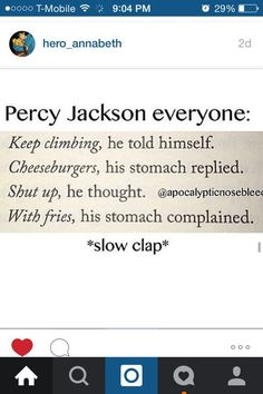 I mean isn't that everyone's motivation to do anything?... No? Just me and Percy then