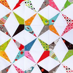 FMF Kaleidoscopes|Red Pepper Quilts.  @Holly Dodt this is paper pieced!!!  So cute,... and so tempting!!