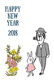 Happy new yearイラスト Happy New Year 2018, Comics, Cartoons, Comic, Comics And Cartoons, Comic Books, Comic Book, Graphic Novels, Comic Art