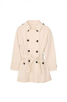 Beige Double-Breasted Trench Coat (GIRLS 7-16)