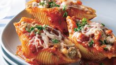 Put a delicious spin on traditional stuffed shells with this recipe that packs hearty ground beef and three types of cheeses: Parmesan cheese,…