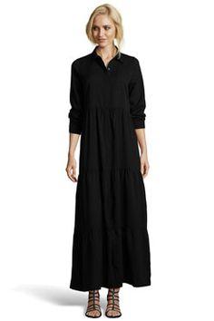 Boutique Mia Tiered Crepe Maxi Shirt Dress at boohoo.com
