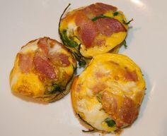 Frittatas - bacon, egg and spinach Grain Free, Dairy Free, Fodmap Recipes, Bacon Egg, Avocado Egg, Frittata, Glutenfree, Spinach, Eggs