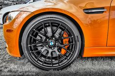 Massive Brembo Brakes Calipers and Discs On a BMW M3 - Funky Colors - Mechanical work of art See more at millionairecarclub.com