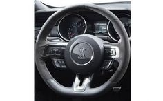 2015 2016 Ford Mustang GT350 D Style Steering Wheel Upgrade Switch the interior look of your Mustang up with this great upgrade.This D-Shaped racing inspired wheel is covered with alcantara suede and leather between the 5 and 7 O'clock position for ultimate grip. This 2015 2016 Ford Mustang GT350 Style D Steering Wheel is the ultimate for that Mustang racer or just a die hard fan.