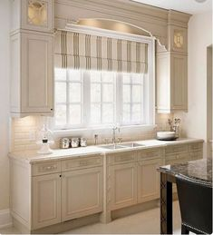 CUSTOM Roman Shades QUICK SHIP striped roman shades ticking stripe kitchen window shades linen roman shade beige taupe french door curtain - March 16 2019 at Shabby Chic Kitchen, Home Decor Kitchen, Interior Design Kitchen, New Kitchen, Home Kitchens, Beige Kitchen, Kitchen Ideas, Country Kitchens, Kitchen Themes