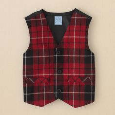 newborn - boys - plaid vest | Children's Clothing | Kids Clothes | The Children's Place