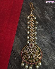 639 Likes, 23 Comments - Tvameva Tika Jewelry, Head Jewelry, India Jewelry, Hair Jewellery, Jewlery, Gold Earrings Designs, Gold Jewellery Design, Designer Jewellery, Necklace Designs