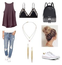 """""""Summer outfit"""" by katelinbullock on Polyvore featuring Billabong, Converse, RVCA, LoveStories and Michael Kors"""