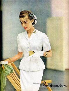 So sweetly, chicly beautiful. #vintage #fashion #1950s #Vogue
