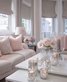 37 Cute Pink Living Room Design Ideas Disclaimer, I have no real proof that a lady would love this room I'm about to share with you, and […] Living Room Grey, Living Room Interior, Home Living Room, Apartment Living, Living Room Designs, Blush Pink Living Room, Cozy Living, Silver Living Room, Feminine Living Rooms