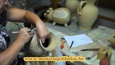 Metszett mintás váza készítése // www.mestersegekboltja.hu - Busi kerámia Busan