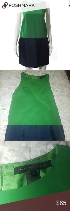 Marc by Marc Jacobs green/blue drop waist dress 2 Like new and in mint condition. No signs of ever having been worn. Marc by Marc Jacobs Dresses