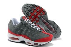 check out 8fe11 42afe Buy Original Nike Air Max 95 EM Mens Running Shoes 2014 New Grey Red Shoes  from Reliable Original Nike Air Max 95 EM Mens Running Shoes 2014 New Grey  Red ...