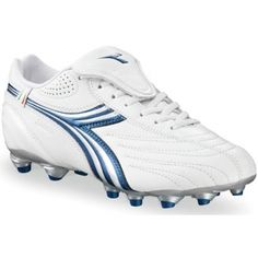 SALE - Diadora Stile 10 LT MG 14 Soccer Cleats Womens White Leather - Was $64.99 - SAVE $9.00. BUY Now - ONLY $55.99