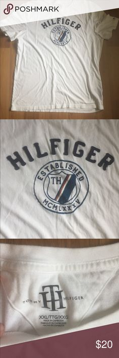 LIKE NEW. TOMMY HILFIGER T-SHIRT Excellent condition! Smoke free! Would look awesome with a pair of dark blue jeans! 100% cotton Tommy Hilfiger Shirts Tees - Short Sleeve
